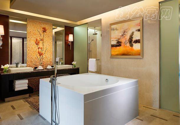 北京万豪行政公寓浴室