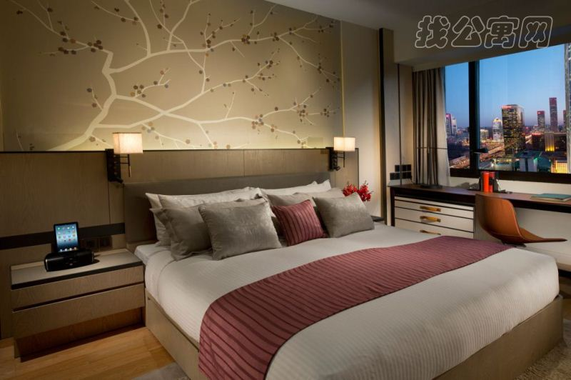 北京嘉里中心公寓1br-bedroom