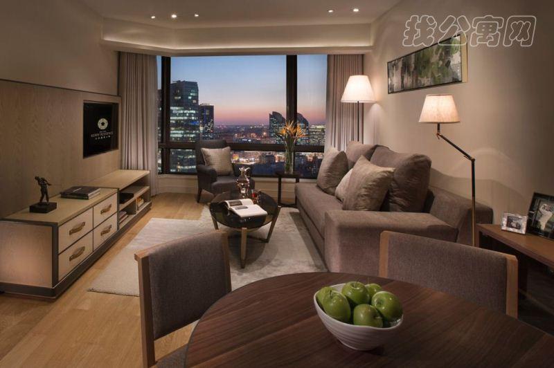 北京嘉里中心公寓1br-living-room