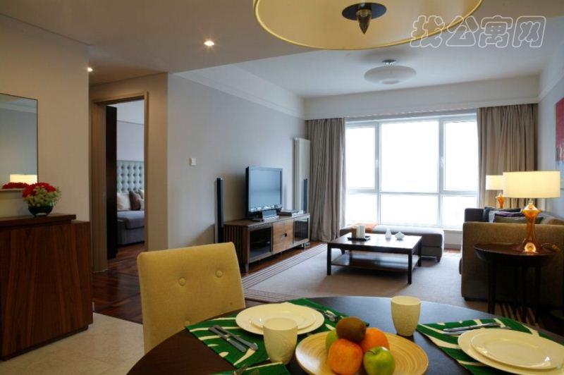 逸兰新城国际酒店式公寓2br living room